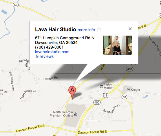 Lava Hair Studio | Map
